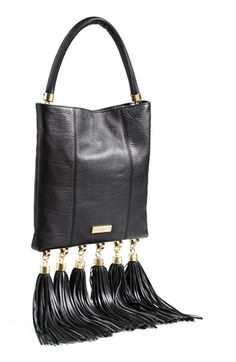 ZAC Zac Posen 'Claudette' Tasseled Leather Hobo available at #Nordstrom
