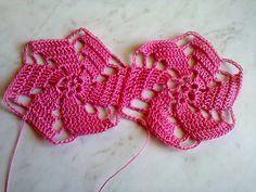 Красивый мотив крючком.  Beautiful crochet motif