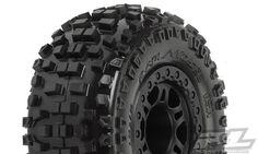 Badlands SC 2.2″/3.0″ Tires Mounted On Black Split Six Wheels
