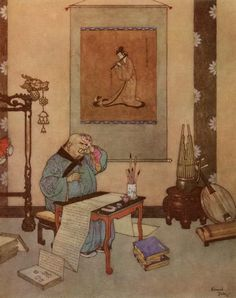 Hans Christian Andersen, The Nightingale, The Music Master Edmund Dulac, Artificial Birds, Hans Christian, Classic Literature, Arabian Nights, Snow Queen, Golden Age, Art History, The Dreamers