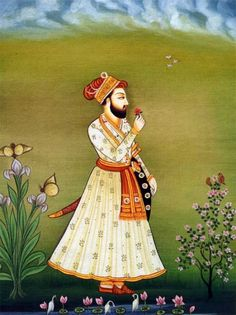 Mughal Style Painting, 17th C.