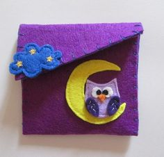Felt purse with owl and starry cloud, Purple Felt purse Purse coin Felt Pochette Purple purse Accessories for girl Birthday gift Owl purse Felt Wallet, Birthday Gifts For Girls, Girl Birthday, Owl Purse, Purple Purse, Girls Accessories, Felt Crafts, Kids Learning, Needle Felting