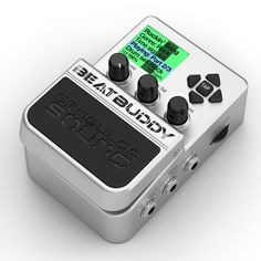The first guitar pedal drum machine. A live beat, hands-free.
