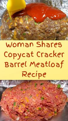 Meatloaf Recipes, Meat Recipes, Cooking Recipes, 4 Pound Meatloaf Recipe, Beef Dishes, Food Dishes, Main Dishes, Cracker Barrel Meatloaf, Avocado