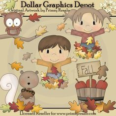 Fall Leaves - Clip Art - $1.00 : Dollar Graphics Depot, Quality Graphics ~ Discount Prices