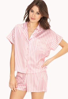 Candy Striped PJ Set | FOREVER21 - 2000063431