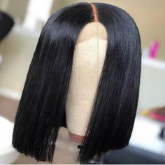 Thriving Hair New Straight Bob Pre-Plucked Hairline Virgin Human Hair Lace Front Wigs Choppy Bob Hairstyles, Undercut Hairstyles, Straight Hairstyles, Hair Undercut, Hot Beauty Hair, Bob Lace Front Wigs, Short Bob Wigs, 360 Lace Wig, Human Hair Lace Wigs