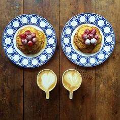 Instagram media symmetrybreakfast - Thursday: Nora Ephron's Ricotta Pancakes (just two ingredients!), spanish honey @brindisaspanishfoods raspberries and a caffè latte @pactcoffee and @sageappliances served on @custhom Palladian plates and @odeceramics cups #symmetrybreakfast #noraephron Are you all set for the weekend, if not symmetrybreakfast picnic boxes as part of Open Squares Weekend are still on sale, link in bio and 100% of profits go to the charity!