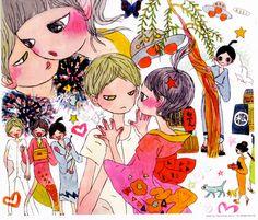Aya Takano Artwork for Zipper Magazine