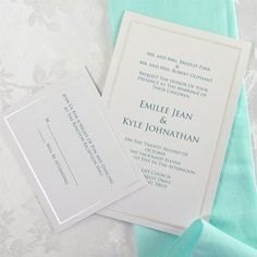 Pearl Border White Invitation Kit (50)