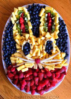 Creative Bunny Rabbit Fruit Platter - Cute for Easter! | CraftyMorning.com
