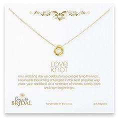"Dogeared Love Knot 16"" Gold Necklace Jewelry | Weddington Way"