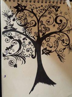 Zentangle tree of life