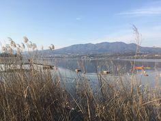 Lake Varese, view of mountain Campo dei Fiori https://it.m.wikipedia.org/wiki/Campo_dei_Fiori_(montagna) Picture by me taken Sunday 12th March 2017