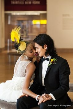 AMBW Wedding  That yellow brings such a nice touch  ♥