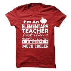 #administrators #camera #grandma #grandpa #lifestyle #military #states... Awesome T-shirts (Cool T-Shirts) IM AN ELEMENTARY TEACHER   - DiscountTshirts  Design Description: IM AN ELEMENTARY TEACHER - JUST LIKE A NORMAL TEACHER EXCEPT MUCH COOLER ! .... Check more at http://discounttshirts.xyz/lifestyle/cool-t-shirts-im-an-elementary-teacher-discounttshirts.html