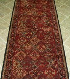 """114588 - Rug Depot Traditional Oriental Stair Runner Remnant - 36"""" x 23'2 - Multi Background - Couristan Taj Mahal 7357-1872 - Hallway Runner ON SALE - FREE Serging Applied on Ends - Rug Runner is Machine-Made of 100% Wool - Highest Quality Machine Made Wool at 1.2 Million Points - T-9 Quality Rating - Custom Stair Runners and Hall Runners by Rug Depot. $549.00. Border - Black. FREE Serging applied on all ends.. Material - 100% Wool. Available in Stair Treads.  Inqu..."""