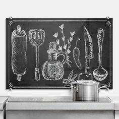 Spatscherm Rustic Kitchen - wall-art.nl