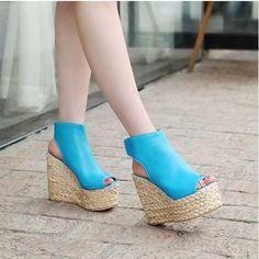 Ankle Wrap High Heels Platform Sandals
