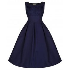 Selema Blackberry Swing Dress | Vintage Inspired Fashion - Lindy Bop
