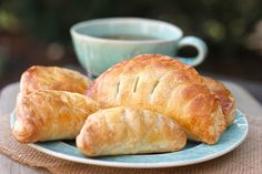 A traditional French puff pastry, filled with apple compote.  The ultimate apple turnover! #apples #turnover #puffpastry