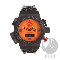 FERI Red Line Torque - Swiss Movement - Titanium case - Steel case with Genuine Carbon Fibre - Silicon Strap with square buckle - All dial is Orange with Carbon Fibre Pattern, Red & black accents - 10 ATM Titanium Jewelry, Selling On Pinterest, Line Shopping, Last Call, Carbon Fiber, Different Colors, Wealth, House Styles, Basel