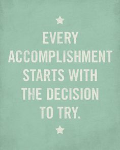 Yes. All start with a decision #bestquotes http://pureskinthera.com/