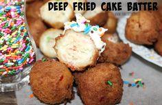 ~Deep Fried Cake Batter!