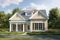 Cottage Country Traditional House Plan 60015 Elevation
