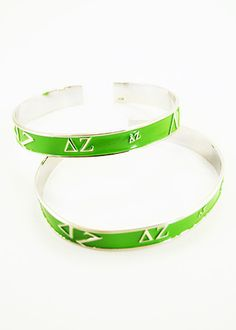 Delta Zeta Bangle (Green)
