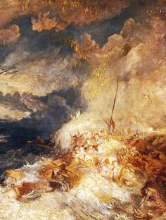 A Disaster at Sea, detail. J.M.W. Turner.
