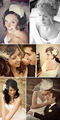 updo - wedding hair inspiration - hairstyle - bird cage viel - www.lapapeteriediva.com.br