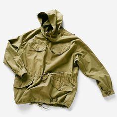 French Army, smock parka, 1940s. Military Looks, Military Jacket, Military Fashion, Mens Fashion, 20th Century Fashion, Field Jacket, Parka, Anorak Jacket, New Outfits