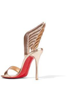 Christian Louboutin - Samotresse 100 Metallic Leather Sandals - Gold - IT37.5