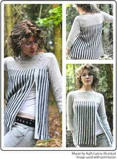 Moore by Ruth Garcia-Alcantud -- just imagine if each stripe were worked in a different Mini-Skein colour!