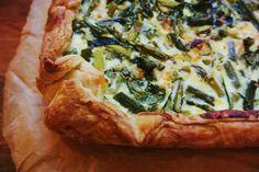 greens (spinach, asparagus, string beans) & 3 cheeses (feta, cheddar ...
