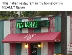 When the Italian restaurant didn't need any repairs. | 17 Photos That Are Hilariously Perfect