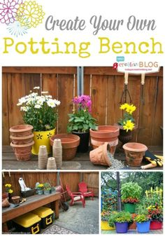 Create your own Potting Bench - Having a space dedicated to planting makes it easy