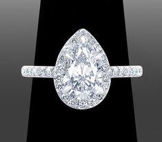 Round Cut Diamond Engagement Rings by Vanessa Round Cut Diamond Rings, Pear Diamond, Round Diamond Engagement Rings, Diamond Cuts, Latest Jewellery Trends, Jewelry Trends, Engagement Ring Guide, Earring Trends, Diamond Sizes