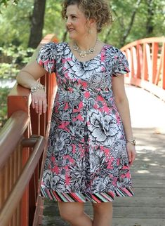 Our next reveal in the new fall collection is The Bernadette Dress! For those of you who have been fans of the Bebe Dress, this one should l. Dress Sewing Patterns, Clothing Patterns, Baby Doll Style Dress, Short Sleeve Dresses, Dresses With Sleeves, House Dress, Fall Fashion Outfits, Plus Size Outfits, Plus Size Fashion