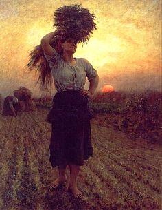 Jules Breton (1827-1906) - Harvesters