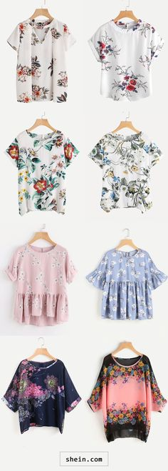 Floral blouses start at $7!