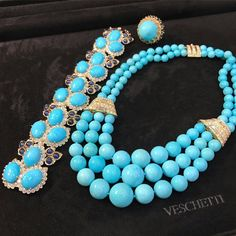 Indulge in our collection of Persian Turquoise to cool down summer heat, now on display at our boutique in Forte dei Marmi! #VeschettiCollection http://s.click.aliexpress.com/e/nyZBayf