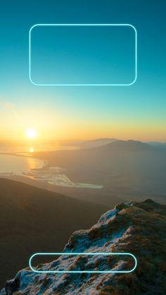 ↑↑TAP AND GET THE FREE APP! Lockscreens Art Creative Sky Mountains Clouds Sun Horizont HD iPhone 6 Plus Lock Screen