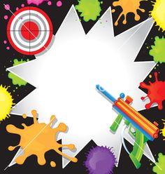 Paintball Invitation Paintball Birthday Invitation Paintball