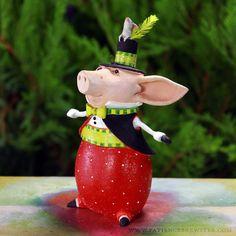 Pierre Pig Ornament