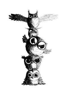 Baby Owl Tattoos, Cute Tattoos, Body Art Tattoos, Circle Tattoos, Tattoo Ink, Arm Tattoo, Fish Tattoos, Sleeve Tattoos, Owl Tattoo Drawings