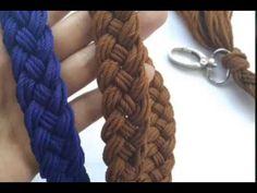 Cara Membuat Tali Tas Rajut Kepang (How To Make Braided Bag Strap) - YouTube