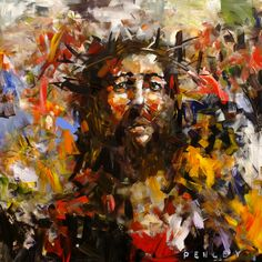 Jesus Christ - modern - artwork - other metro - Penley Art Company Modern Artwork, Contemporary Art, Modern Paintings, Canvas Paintings, Croix Christ, Steve Penley, Jesus Artwork, Art Periods, Images Of Christ