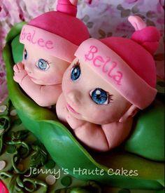 Sweet Peas - Cake by Jenny Kennedy Jenny's Haute Cakes